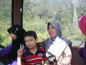 saya dalam cable car di Langkawi....gayat ni