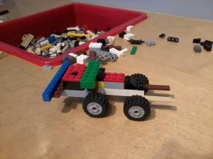 ..dan inilah hasilnya. Sebuah kereta lego