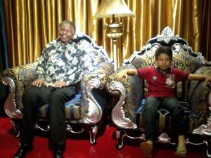 ...saya bersama Nelson Mandela di Afrika Selatan
